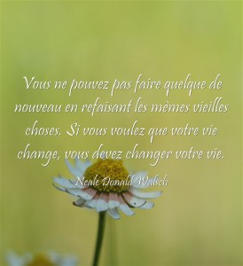 Si vous voulez que votre vie change, vous devez changer votre vie.